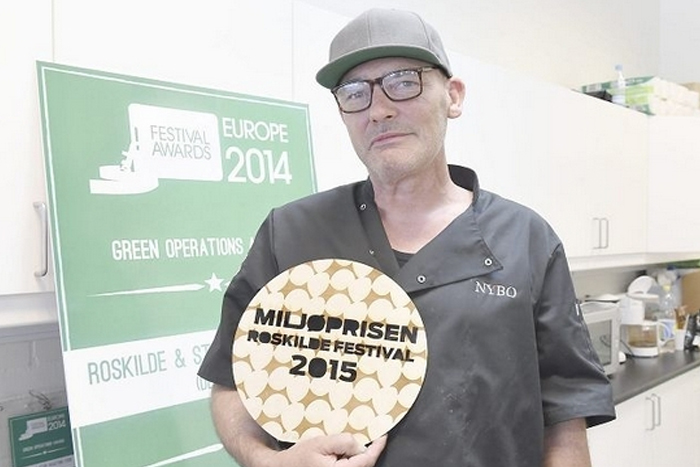 Peter Haugelund og Det Runde Bord fik sidste år Roskilde Festivals Miljøprisen 2015. Foto: Roskilde Avis